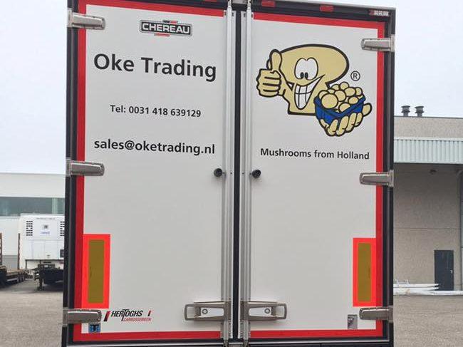 Van Houten Transport Vrachtwagen Champignons Achterzijde